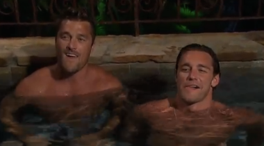 What's weird about two dudes just hanging out in a hot-tub?